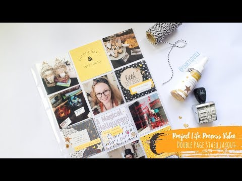 Project Life Process Video ~ Scrapbooking Halloween + + + INKIE QUILL