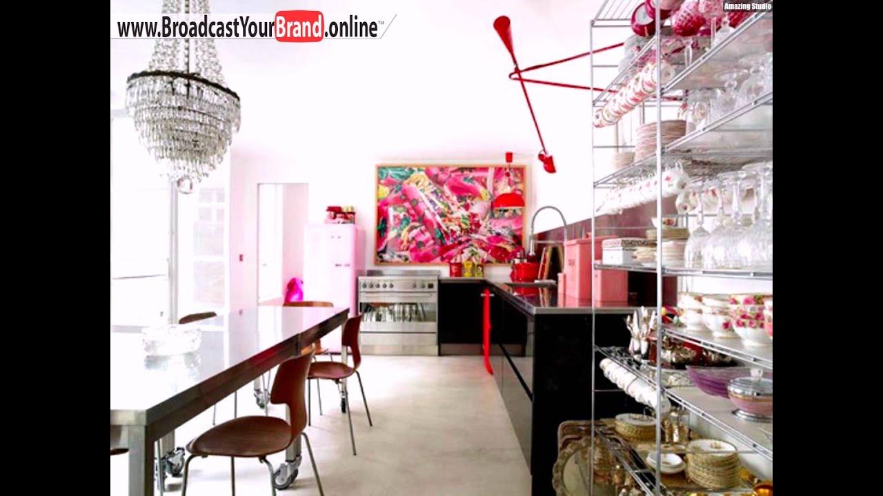 Wandgestaltung Küche Rosa Farben Wanddeko - YouTube