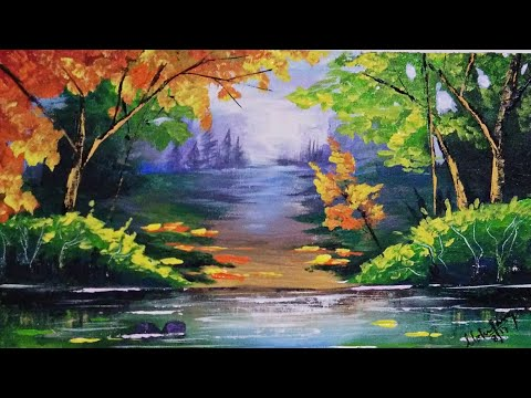 ACRYLIC PAINTING TUTORIAL FOR BEGINNERS.