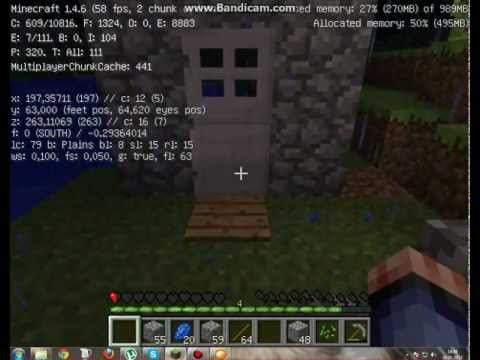 открыть железную дверь minecraft