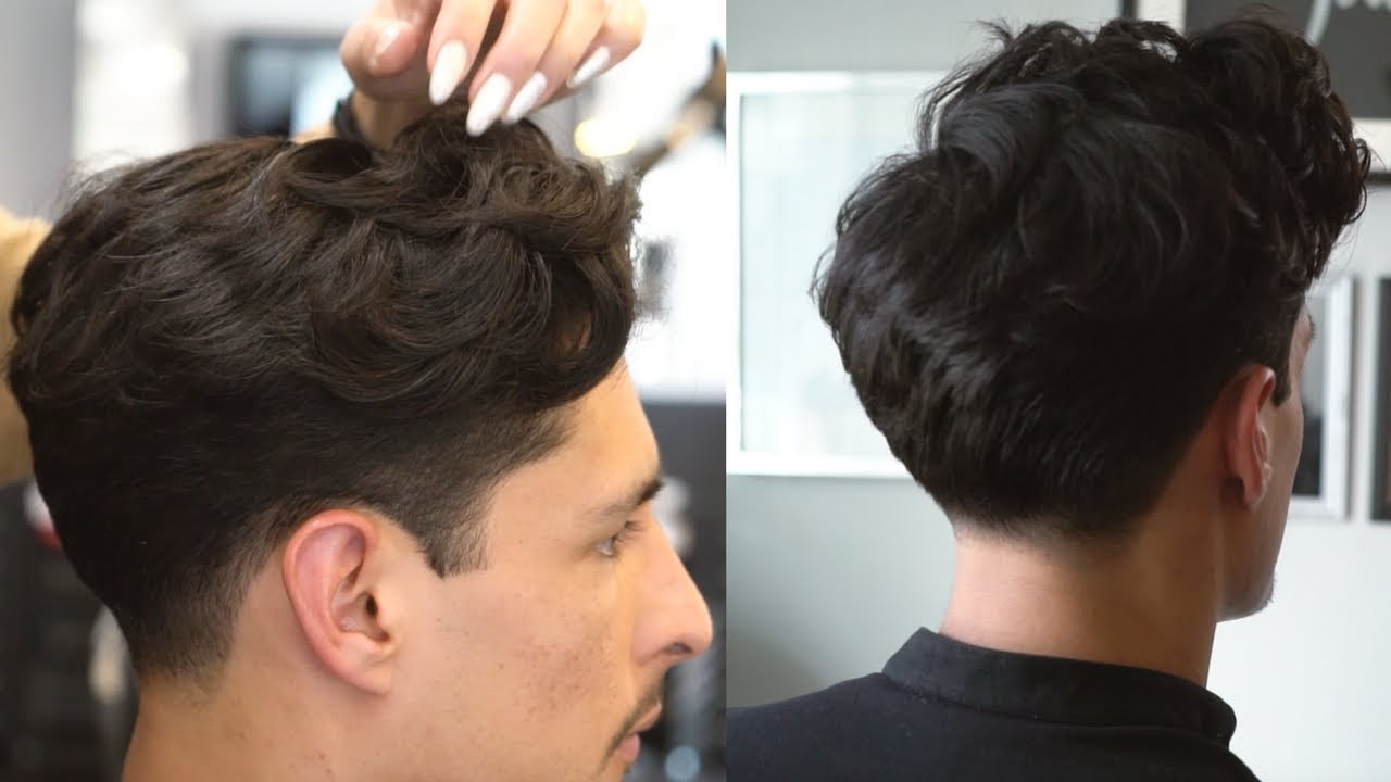 scissors over comb haircut tapered