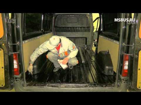 видео: Переоборудование фургона, установка кресел на рельсах