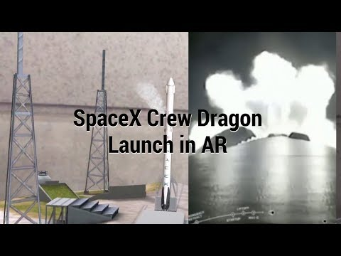 Launch 321 App - SpaceX Crew Dragon Capsule Launch In AR & Live Video