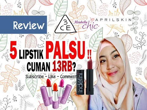 bikin-kamu-cantik-review-5-lipstik-palsu-korea!!-cuman-13rb-an-3ce,-mirabella,-indefini,-april-skin