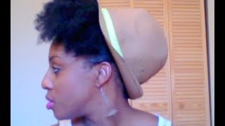 1 Hat, 5 styles! How to style a straw hat with natural hair