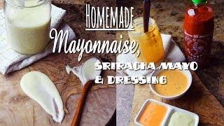 Homemade Mayo : Homemade Japanese Mayo : Homemade Mayo Recipe : Sriracha Mayo