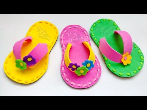 diy-sandalias-de-foamy-o-goma-eva- -#ronycreativa-manualidades
