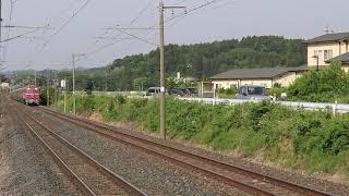 青い森鉄道 EF81形+E26系 9011レ「カシオペア紀行」 苫米地駅通過 2019年5月26日