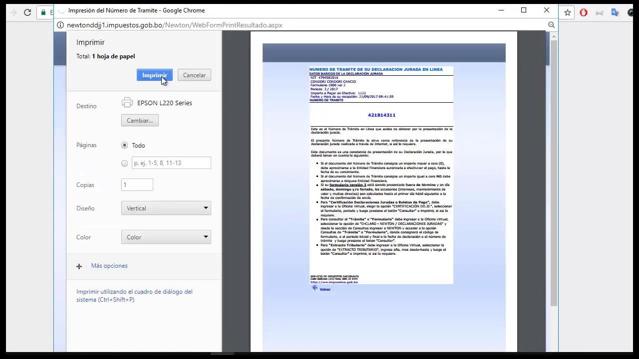 Formulario 1000 bolivia impuestos ejemplo llenado - YouTube