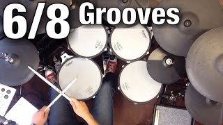 6/8 Grooves - Drum Lesson