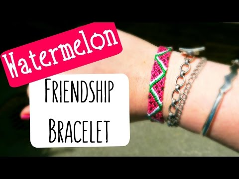 DIY Watermelon Friendship Bracelet How To Tutorial ¦ The Corner of Craft