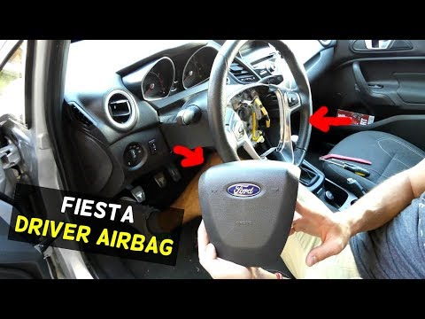 HOW TO REMOVE STEERING WHEEL AIR BAG ON FOR FIESTA DRIVER SIDE AIR BAG