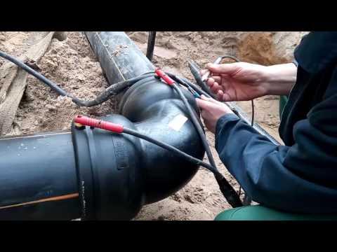 Электромуфтовая пайка газопровода