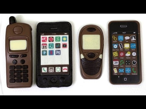 Eating Smartphones and Cellphones from Chocolate and Marzipan