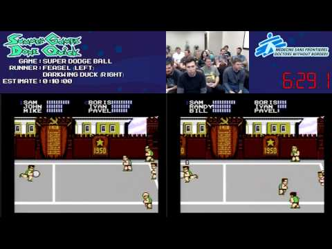 Super Dodge Ball :: SPEED RUN Race (08:05) [NES] *Live at #SGDQ 2013*