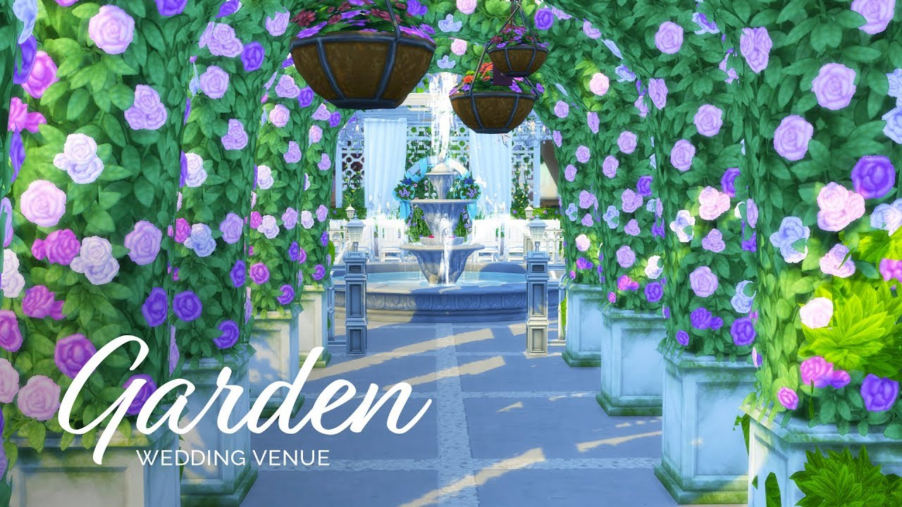 Sims 4 Speedbuild Wedding Venue Series Botanical Garden Youtube