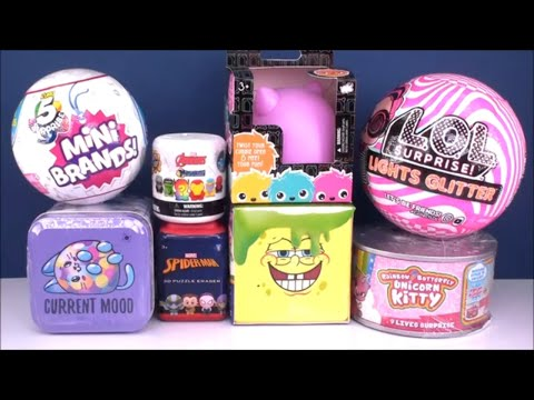 lol-surprise-lights-glitter-dolls-spongbob-unicorn-kitty-toy-product-unboxing-review