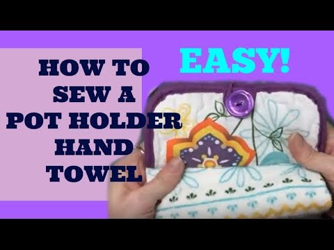 How To Make An EASY Pot Holder Hanging Kitchen Hand Towel