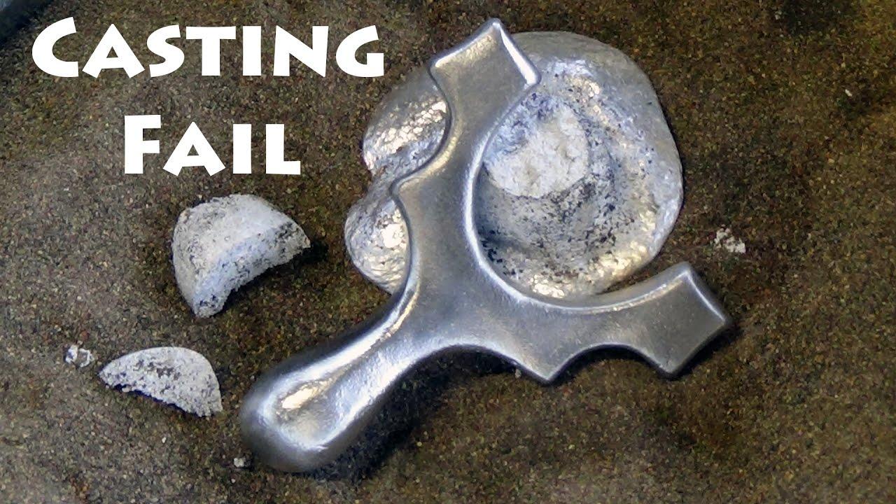 aluminum casting fail how not to cast a slingshot from aluminium