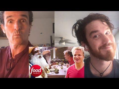 Indian Guru Tries To Convince Gordon Ramsay To Be Vegetarian REACTION!