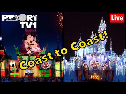 🔴Live: Disney's Hollywood Studios & Disneyland Coast To Coast Live Stream - 1-5-20