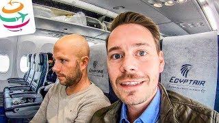 Na was bietet EgyptAir in der Economy? Tripreport Boeing 737-800   GlobalTraveler.TV