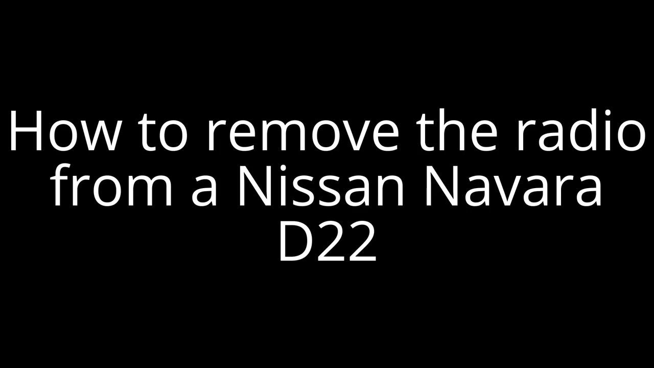 nissan nav radio wiring [ 1280 x 720 Pixel ]