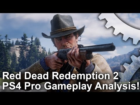 [4K] Red Dead Redemption 2 PS4 Pro First Look: Gameplay Trailer Analysis!