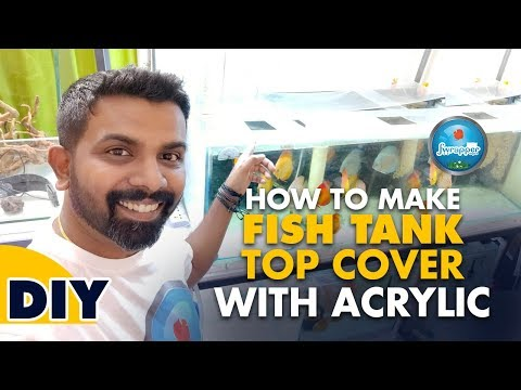 How To Make Fish Tank Cover Making With Acrylic || Aquarium Lid