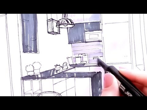 Small Kitchen 6 m2 (Sketch) Interior Design Ideas