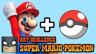 How to Draw | Super Mario Pokemon Challenge | Fun Step-by-Step Tutorial