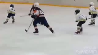 Узбекский 7-летний хоккеист С.Азимов - «Лучший игрок матча» на чемпионате Казахстана-2017