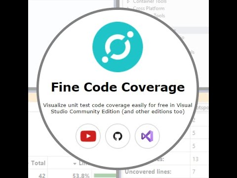 Improve .net unit test code coverage easy for free using Fine Code Coverage visual studio extension