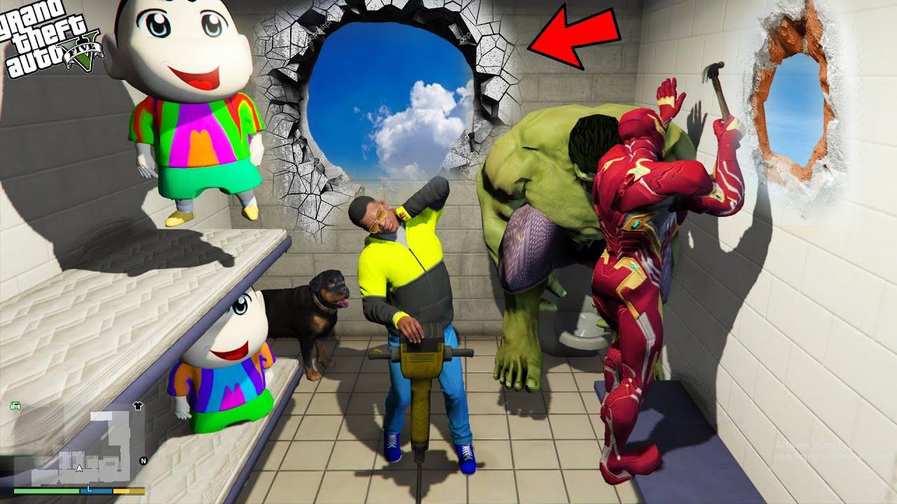 Download GTA 5 : Shinchan , Pinchan And Franklin Trapped in Prison in GTA 5 ! (GTA 5 mods)