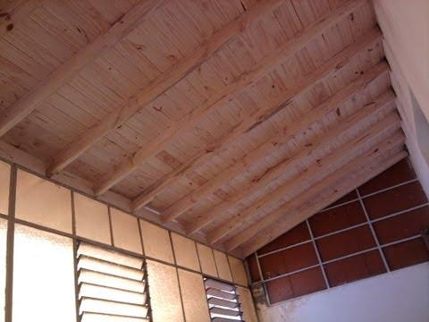 Techo de madera a la vista y chapas   youtube
