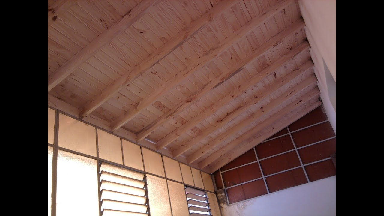 Techo de madera a la vista y chapas youtube for Techos de madera economicos