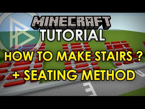 Minecraft - STADIUM TUTORIAL - How to make stands/stairs + seating method [Official]