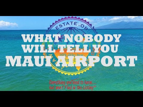 Maui, Hawaii Airport Terminal - What You REALLY Need to Know!