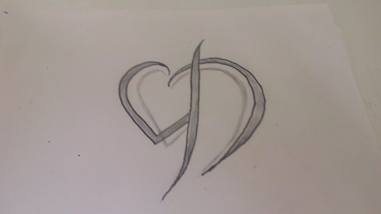 رسم حرف D بطريقه ابداعيه وبسيطه يمكن تنفيذها بسهوله جرب بنفسك