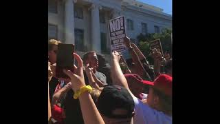 Milo Yiannopoulos Prays Amid Heated Protests at UC Berkeley Event