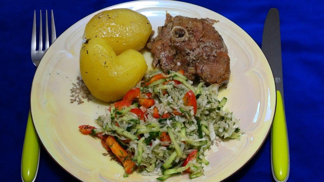 как приготовить стейк из индейки в духовке с картошкой