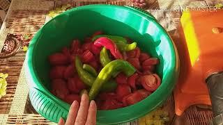Огонёк  на зиму из помидоров ( Рецепт без варки)