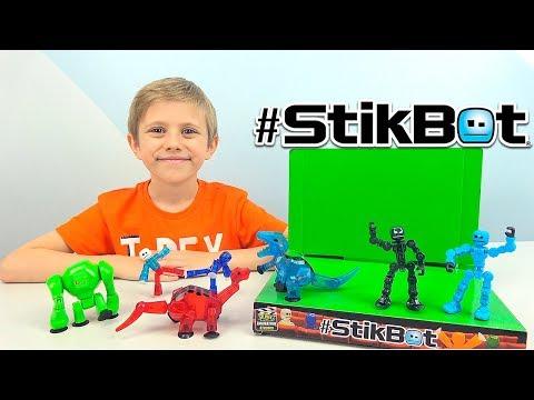 Стикботы ДИНОЗАВРЫ и другие наборы #Stikbot Studio & KLIKBOT - Даник и Анимация для детей