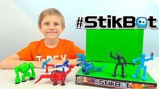 Фото Стикботы ДИНОЗАВРЫ и другие наборы Stikbot Studio Andamp Klikbot - Даник и Анимация для детей
