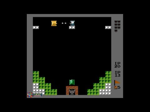 Battle City (1985, NES) - 6 of 7: Glitch Stage 193 to Stage 256 (2 Players)[1080p60]