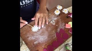 как сделать цветок из мастики без формочек