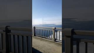 Тает лёд на Волге, мост Саратов-Энгельс