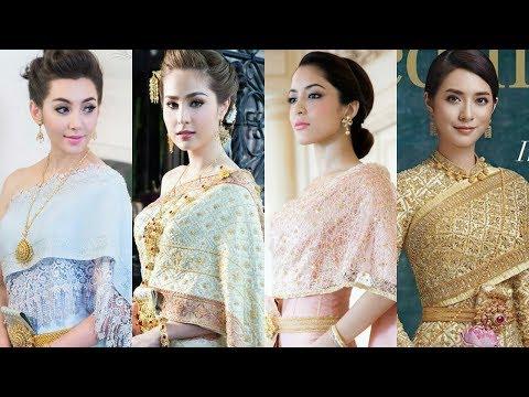 Top 10 Most beautiful Thai Actresses Wearing Wedding Dress 2017
