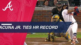Acuna Jr. ties Ott's home run record