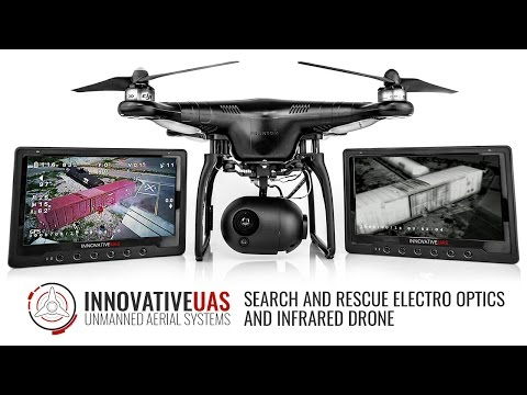 TCI's EO/IR Dual Payload Drone for Search and Rescue. Infrared and Thermal Application Drone.